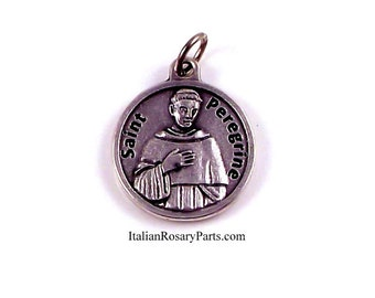 Saint Peregrine Religious Medal Patron of Cancer Patients | Italian Rosary Parts