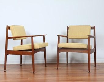 Danish Pair of Arm Chairs