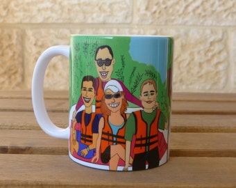 "Customized Cartoon Mug of You! Your ""mug"" on a mug! Your memory on a mug!"