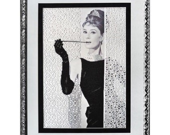 """Tela Artis the kit for a Embroidery with beads """"Breakfast at Tiffany's"""""""