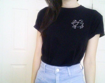 Cancer Zodiac Constellation Embroidered Tee