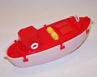 Vintage Soviet Toy. Water Toy. Toy Plastic Boat. Unused Toy Ship for  Children.