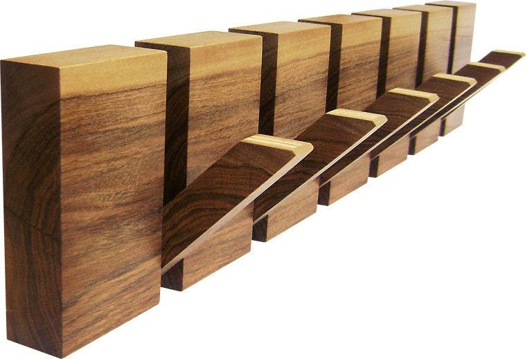 Wooden coat rack 6 hooks coat hanger wood wall art wooden