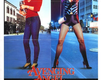 Avenging Angel Movie POSTER (1985) Thriller/Action