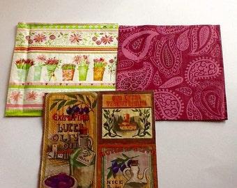 3 Decoupage Napkins, Decoupage Paper, Paper Napkins for Decoupage, Colorful Napkins, Napkins set, Napkins Lot, ldv Napkins
