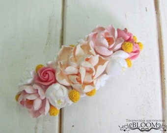 Hair barrette, automatic barrette, barrette , hair accessories, Hairpin accessories, claycraft by deco, clay, polymer clay