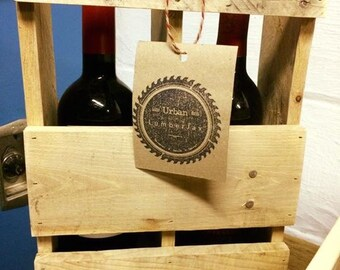 LumberJax Reclaimed Pallet Wine Carrier