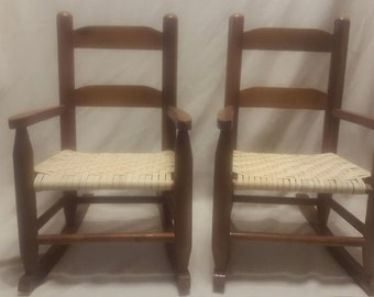 cute little twin rocking chairs