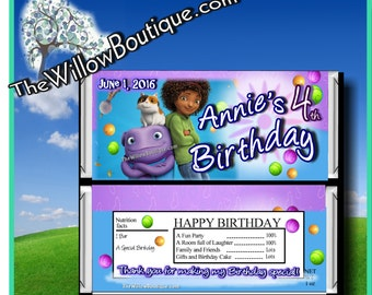 Hershey Candy Bar wrappers DreamWorks Home BIRTHDAY Favors Personalized with your childs name etc.