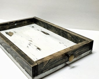 Wood Serving Tray With Handles Serving Platter Ottoman Tray Coffee Table Tray