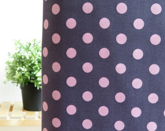 1/2 yard Lecien Color Basic - Dark Purple with Big Pink Dots - 4524-SPU