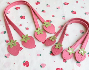 "Atsuko Matsuyama Strawberry Leather-Like Handle | 40cm/16"" or 30cm/12"""