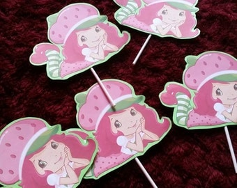Strawberry short cake Toppers 12ct 2 sides