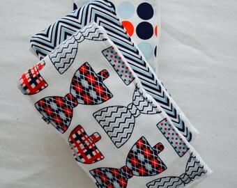 Bowties ~ Burp Cloths ~ Set of 3