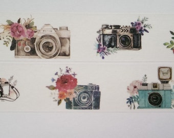 Design Washi tape cameras floral