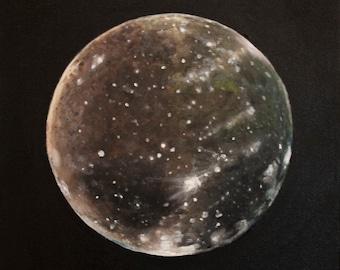 Original Hand Painted Callisto Moon Print