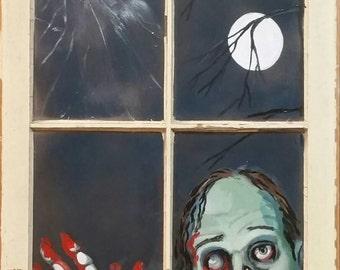 Zombie in the window