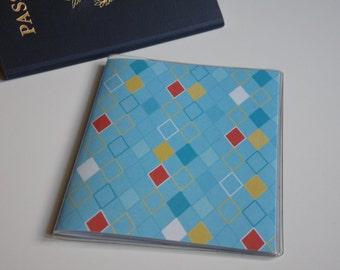 US Passport Case Passport Cover, Blue Diamonds Passport  Sleeve, Case, Holder