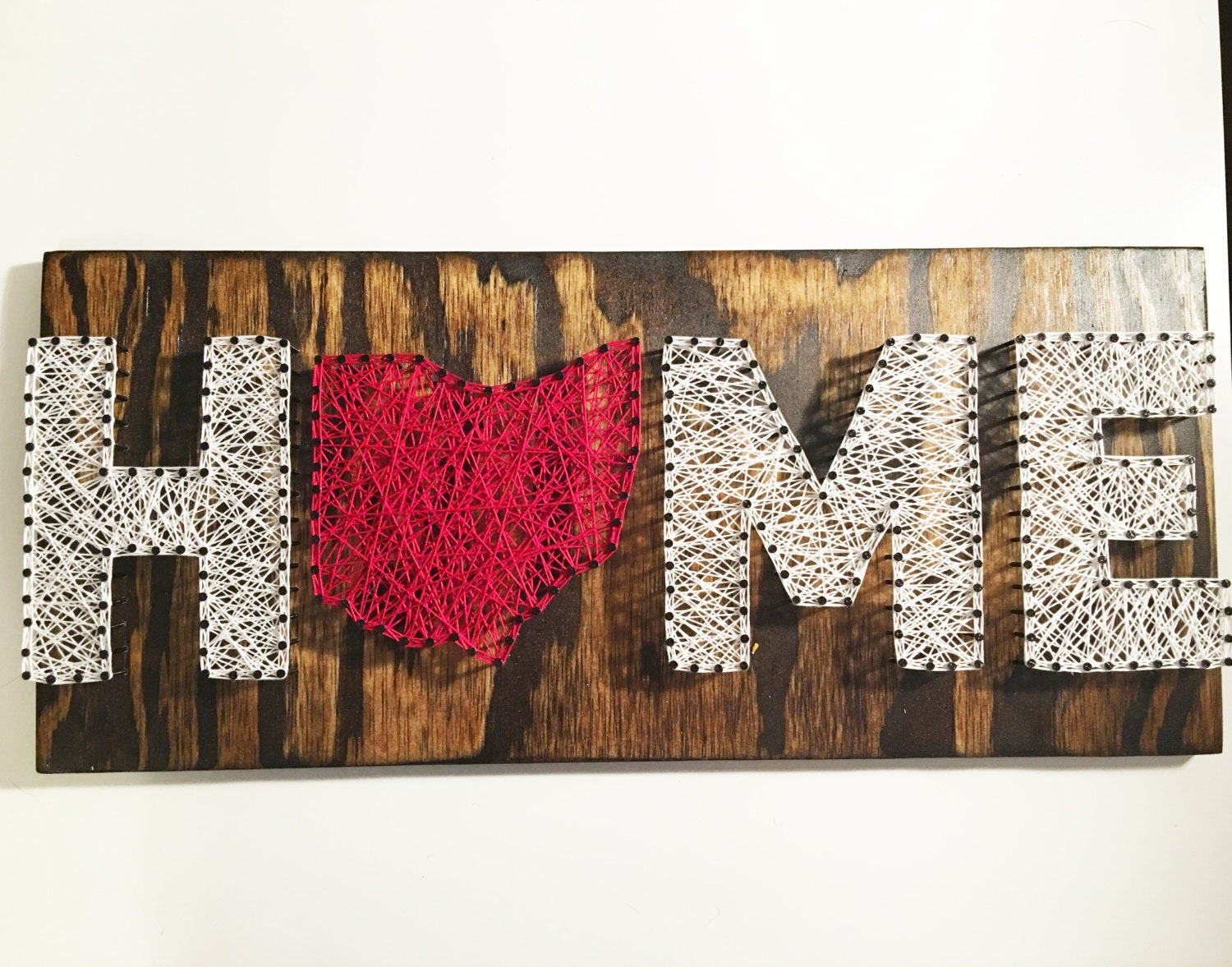 ohio home string art ohio string art home string art home decor ohio decor home is where the heart is home sign