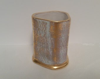 Stangl Antique Gold Try-Rex Pencil Holder #3953
