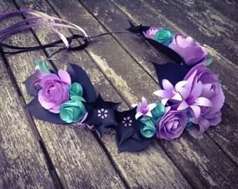 Pastel Goth Floral Crown