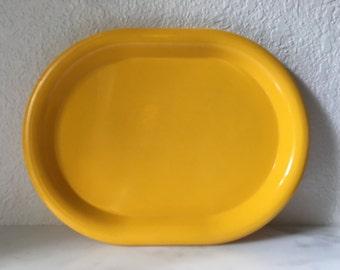 Vintage Ingrid Tableware Serving Platter in yellow