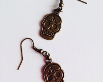 Sugar Skull | Candy Skull | Day Of The Dead | Emo | Earrings