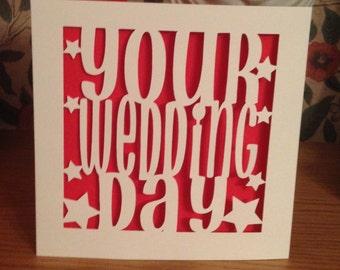 Papercut -Wedding Card -  Your Wedding Day
