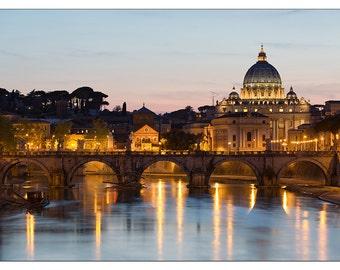 PS0210 Poster Print Landmark Vatican City during sunset Rome ITALY LANDSCAPE ART