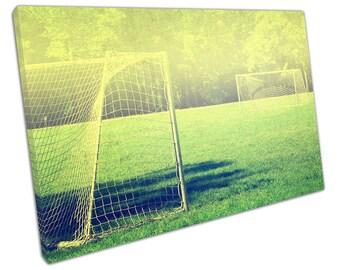 Still FOOTBALL Pitch Canvas WALL ART C2291