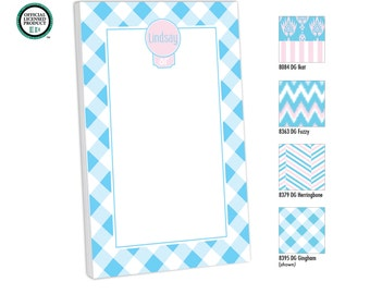 Delta Gamma Personalized Notepad, Customized with name, monogram or colors, To Do, Memo Pad, Monogram Notepad, Delta Gamma Gift, Big Little