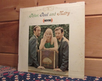 Peter, Paul and Mary - (Moving) - 33 1/3 Vinyl Record