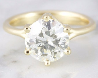 Marilyn EGL 2.80 ct Old European Cut Diamond Engagement Ring