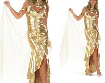 Gold Dress, Gold Prom Dress, Cleopatra gold dress, Cleopatra costume, Gold Gown, Gold Dress, Gold long dress, Halloween costumes, prom dress