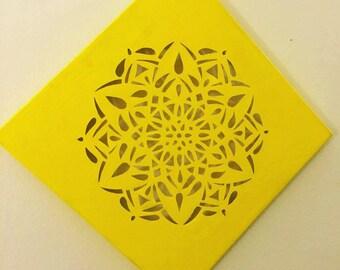 Mandala Cut Canvas