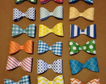 Set of 20 Paper Bow Ties, assorted paper bow ties, Little Man party decor, bow tie birthday party, boy baby shower decor.