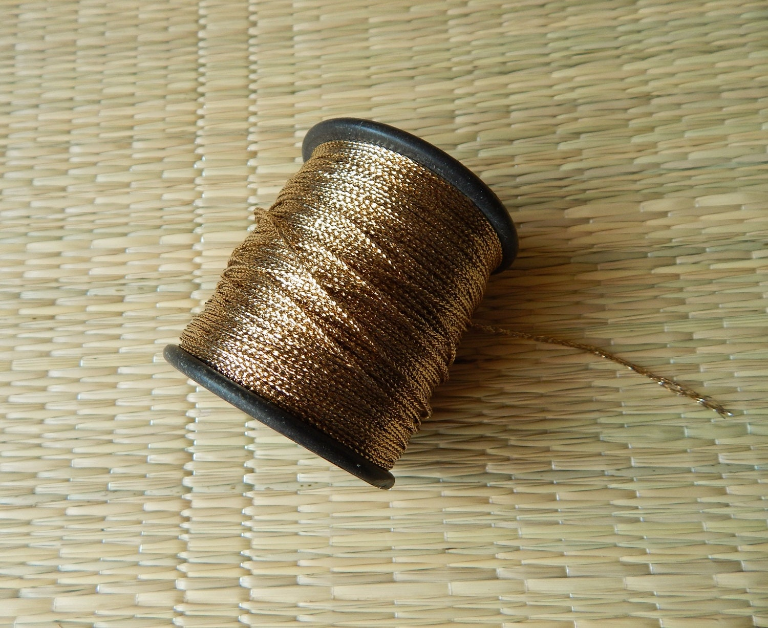 Gold zari thread embroidery hand