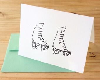 Roller Skates - set of 8 cards