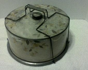Vintage metal cake holder