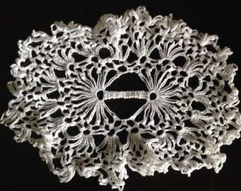 Hand Crafted Crocheted Crochet White Doily