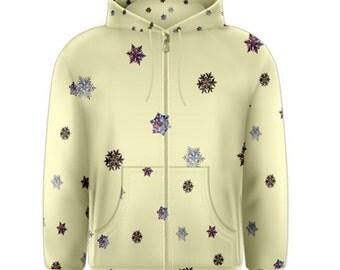 Nebula Snowflake Men's Zipper Hoodie