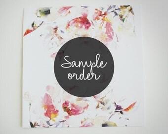 Sample order || Removable Wallpaper || Wall Murals