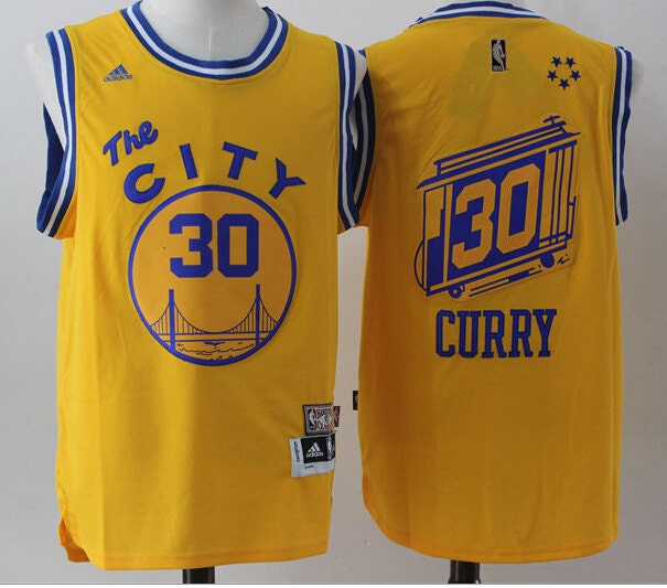 The Warriors The Town Jersey: Steph Curry The City Golden State Warriors Jersey By