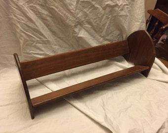 "Nice Antique rosewood Bookshelf or DVD/CD shelf 23"" wide 8.5"" tall"