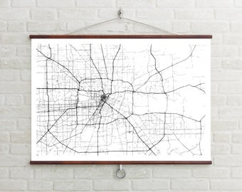 Map of Houston | Houston | Houston Art | Houston Map | Houston Print | Houston Decor | Houston Gift