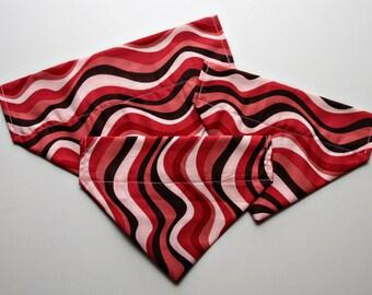 Red Waves Dog Bandana