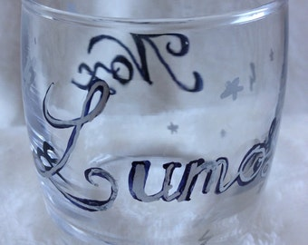Harry Potter inspired Lumos/Nox candle holder, tealight holder, lumos, nox, Harry Potter candle holder, lumos spell, Valentine's Day gift