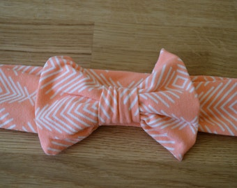 Bow Headband in Coral