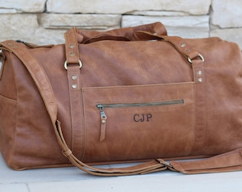 Leather duffle bag,italian leather mens womens duffel bag with pockets,weekender bag,personalized bag,overnight bag,gym bag,sports bag