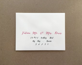 Set 25 - A2 cream Envelopes with Return Address printing service - Wedding envelopes - wedding invitation addressing - wedding calligraphy